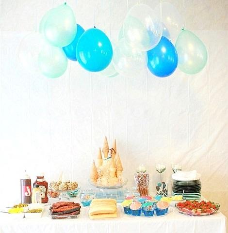 Fiesta de cumpleaños casera de la Sirenita de Disney