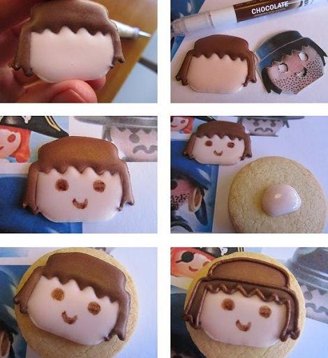 galletas de cumpleaños de playmobil