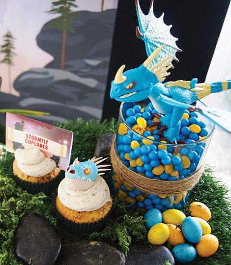 fiesta de cumpleaños de dragones y caballeros