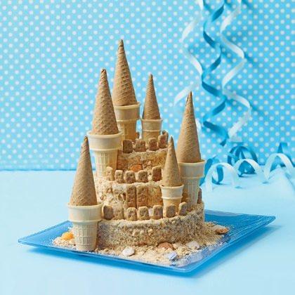 tarta para una fiesta infantil en la playa