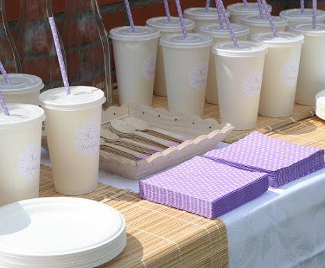 menú para una fiesta infantil de violetta