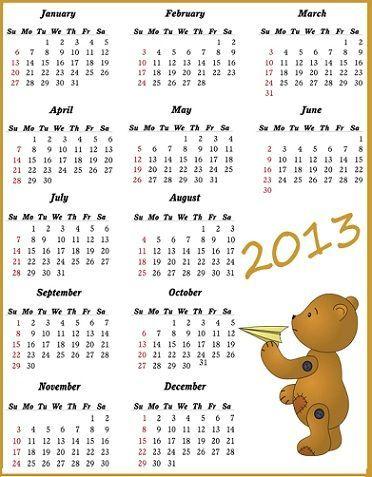 calendario 2013 imprimir