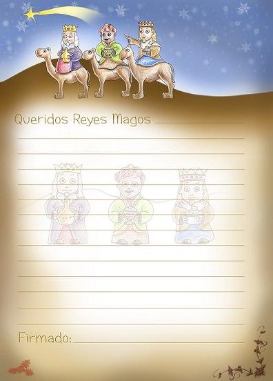 carta a los reyes magos 2014