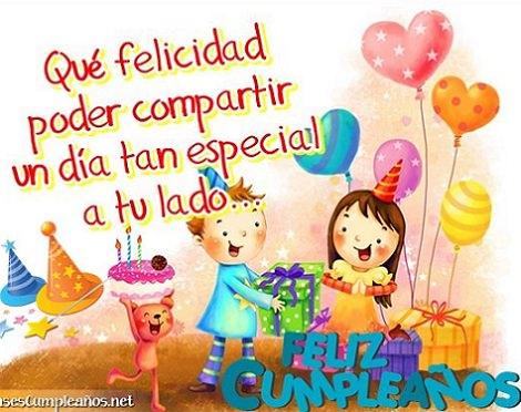 felicitaciones para cumpleaños infantiles