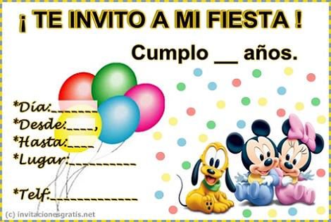 Invitación de Disney