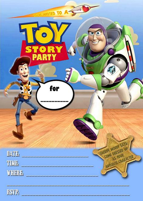 Invitación de Toy Story