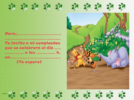 Invitación de Winnie the Pooh