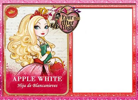 tarjeta de cumpleaños ever after high apple