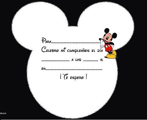7b1ec2844 Invitaciones De Cumpleaños Caseras De Mickey Mouse