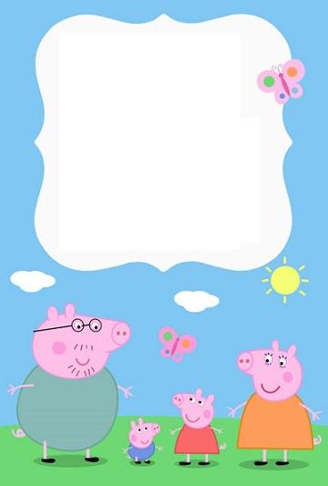 Invitaciones De Cumpleaños De Peppa Pig Para Imprimir Gratis