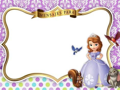 invitaciones de cumpleaños de la princesa sofía