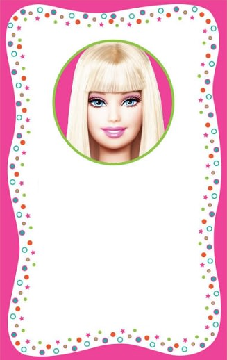 Invitaciones De Barbie Para Un Cumpleaños Infantil