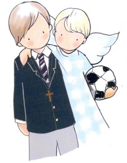 dibujos para recordatorios de comunión niño