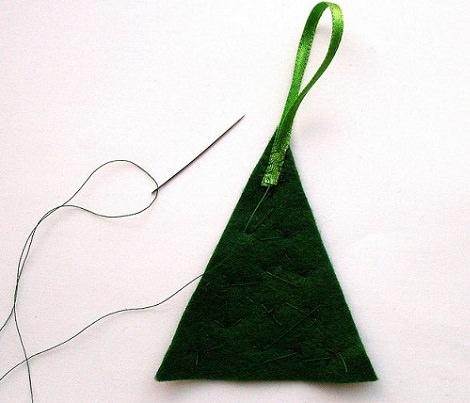 colgante adornos arbol de navidad de fieltro