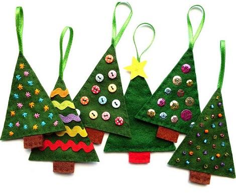 Manualidades Con Fieltro Hacemos Los Adornos De Navidad Para El - Manualidad-arbol-navidad