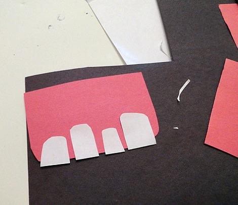 hacer las formas para las bolsas de caramelos de halloween