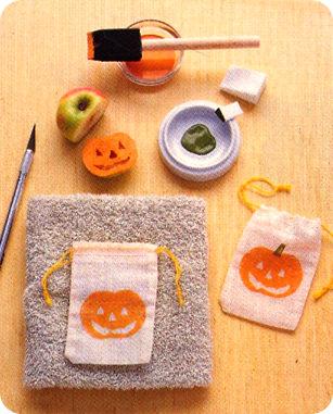 bolsas de chuches caseras para halloween con estampación