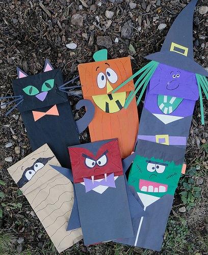 bolsas de caramelos caseras para halloween