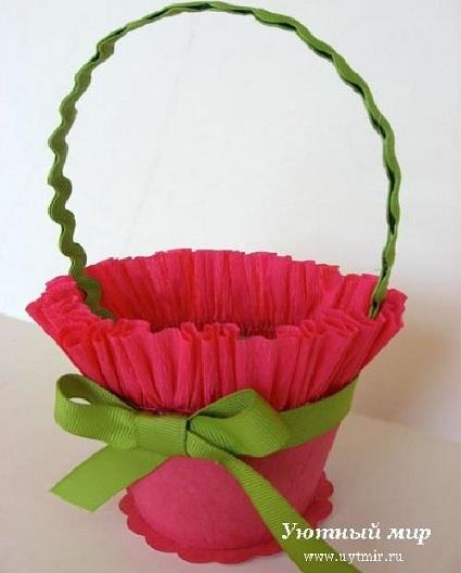 cómo hacer un centro de mesa con forma de cesta