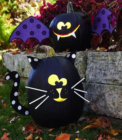 Ideas para decorar calabazas infantiles de halloween for Decorar calabazas secas