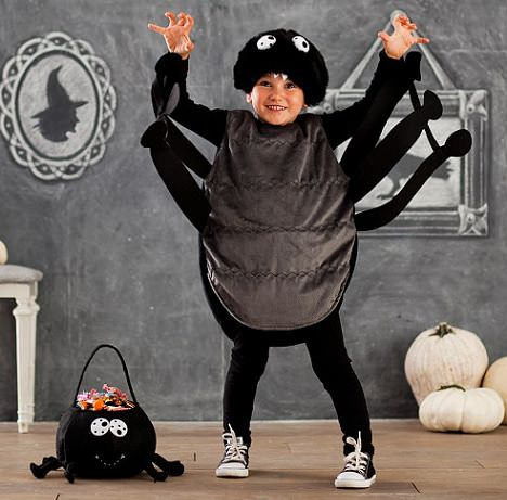 disfraz casero de araña de halloween