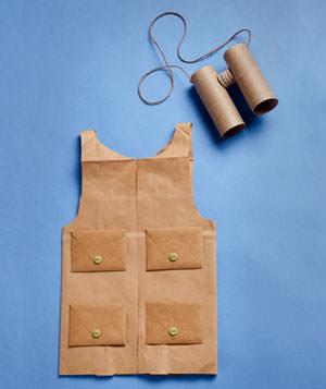 materiales para un disfraz de explorador casero