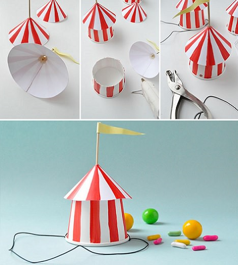 gorros de fiesta de papel del circo