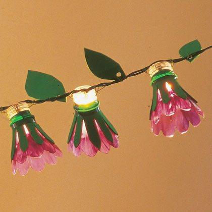 manualidades de primavera una guirnalda de flores