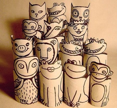 manualidades con rollos de papel originales