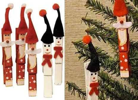 pinzas navideñas para hacer con niños