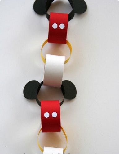 manualidades de mickey mouse para hacer con los niños guirnalda