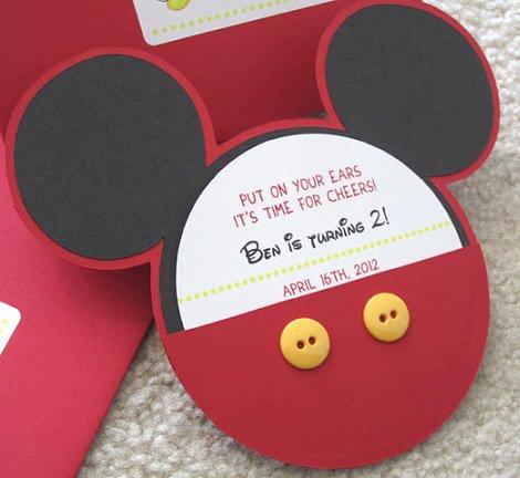 manualidades de mickey mouse para hacer con los niños invitaciones