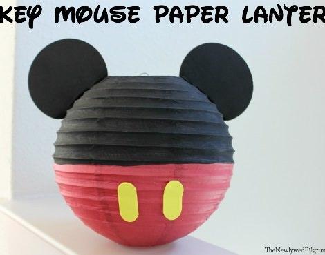 manualidades de mickey mouse para hacer con los niños lámpara