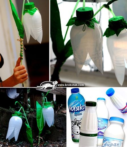 manualidades para reciclar flores para el jardín