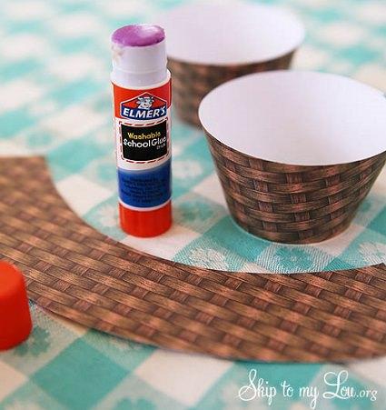 molde para hacer cestas con huevos de pascua