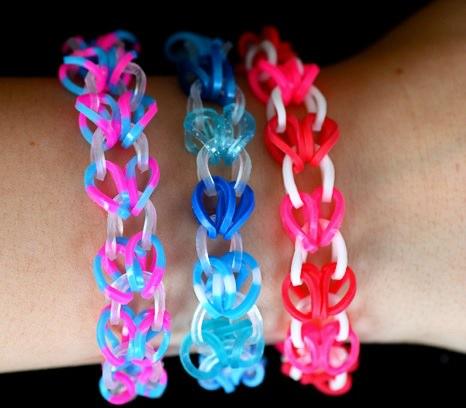 pulseras de gomas de colores