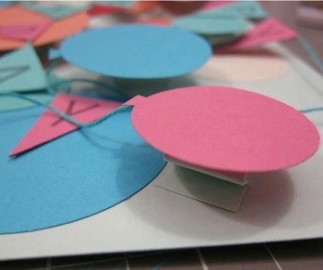 hacer una tarjeta 3d casera globos
