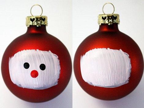 pintar bolas para el árbol de navidad