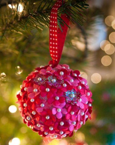 adorno de navidad casero de fieltro