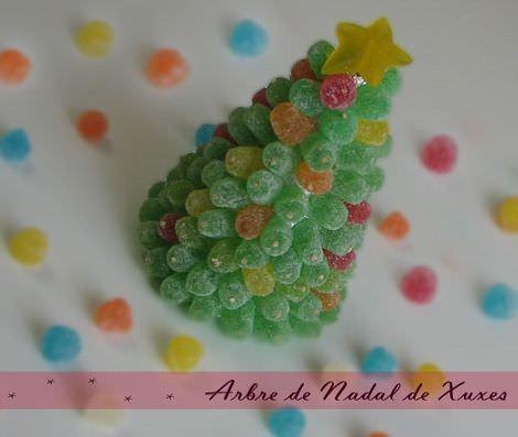 árbol de navidad con chuches para hacer con los niños