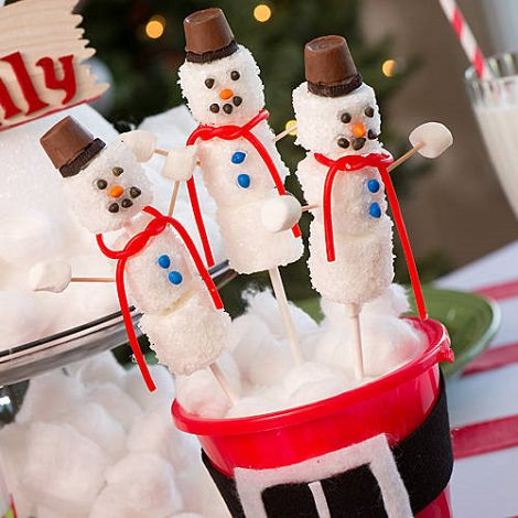 centro de mesa de navidad con chuches para hacer con los niños