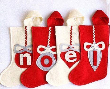 adornos fieltro navidad