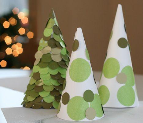 Arbol De Navidad Casero Fiestas Infantiles - Manualidad-arbol-navidad