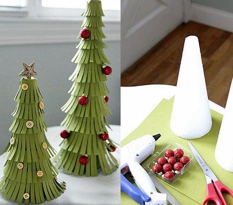 árbol de navidad casero de cartulina