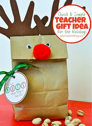 bolsas de navidad con forma de reno