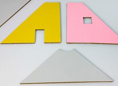 casita de muñecas de cartón paredes