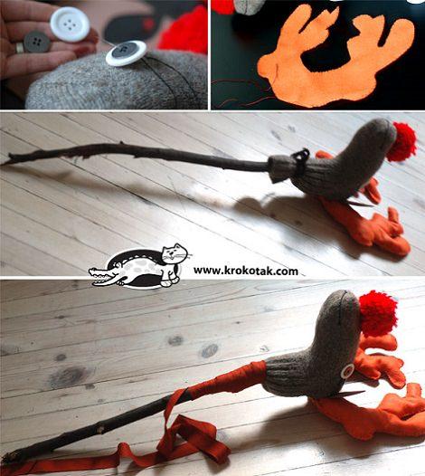 como hacer un juguete reciclado palo