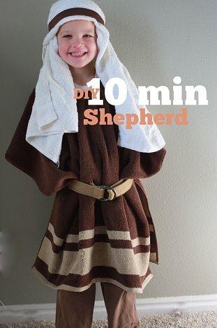 disfraz de pastor casero en 10 minutos