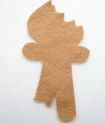 galletas de jengibre de fieltro