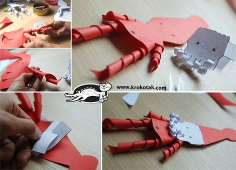 como hacer un papá noel de papel para decorar cara